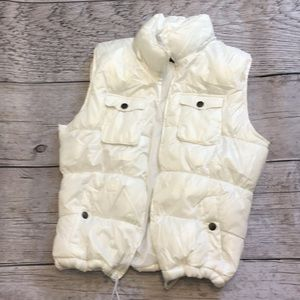 Faded glory white vest NWOT